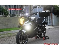 Kawasaki Versys 2013 putih FP full modif part branded